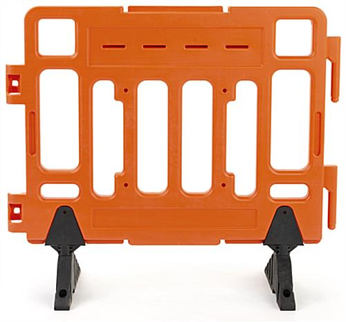 Crowd control traffic barricade with 4 inch wide slots