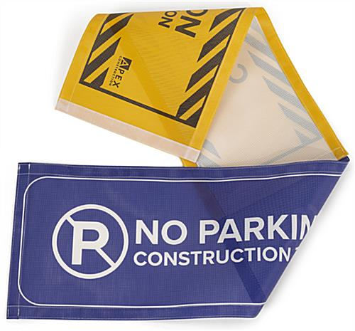 Barrier sign with solvent printing