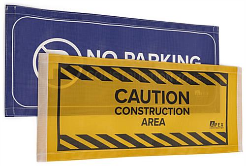 Custom printed barrier sign