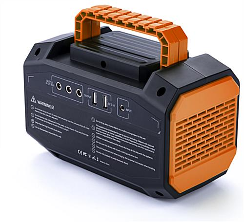 Branded portable power station battery with 150W continuous rated energy source