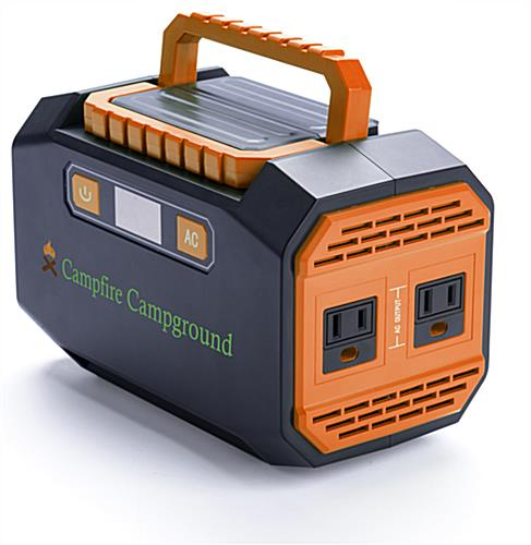Branded portable power station battery with ABS housing