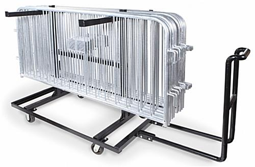Portable barricade cart with push handle
