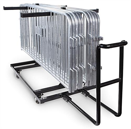 Portable barricade cart with panel support base