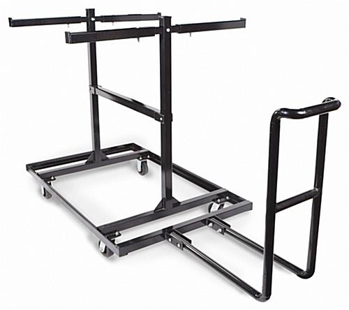 Portable barricade cart with black finish