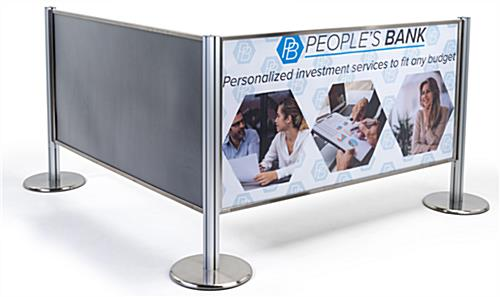 Configurable stanchion advertising barriers