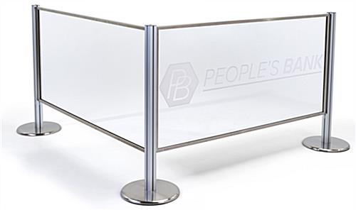 Branded acrylic stanchion panel replaceable insert