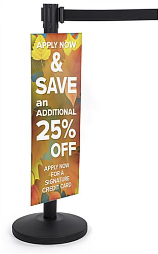 lightweight coroplast stanchion advertising poster