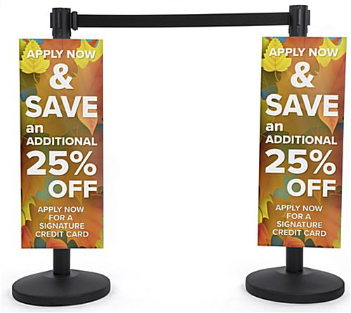 full color custom coroplast stanchion advertising poster