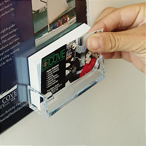 "Business Card Holder With 8-1/2"" x 11"" Sign Frame"