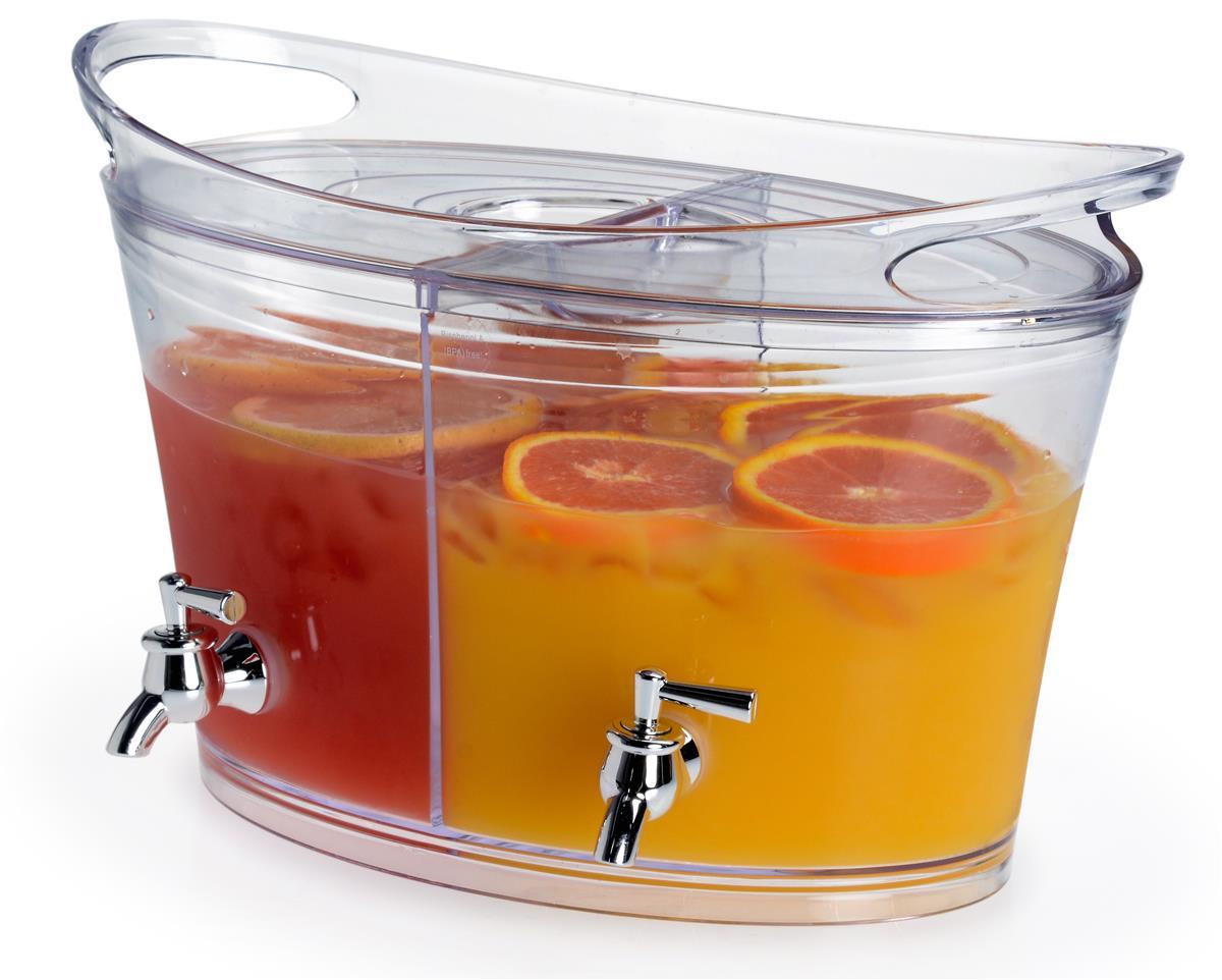 Buffet Drink Dispenser Dual Server For Cold Drinks