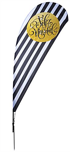 feliz navidad holiday teardrop flag with gold accent
