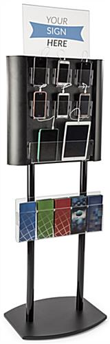 Multiple Cell Phone Charging Station with Literature Holder