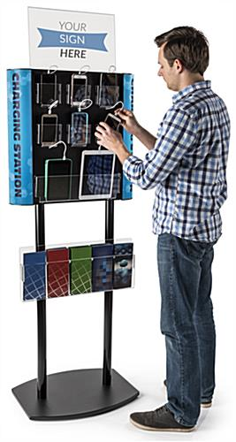 8-Device Charging Kiosk for Electronics