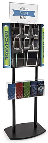 Commercial Cell Phone Charging Station with Literature Pocket