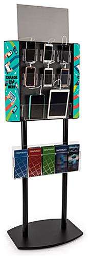 Tablet & cell phone floor charger stand