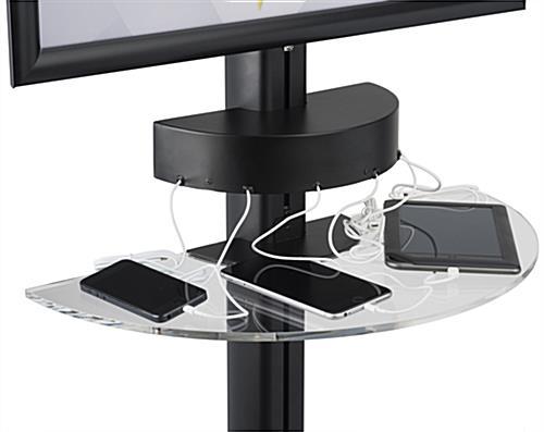 Cell Phone Charger Kiosk Black Finish