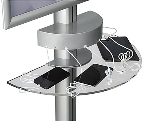 Mobile Device Charging Kiosk With Shelf