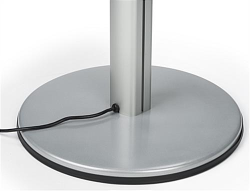 Mobile Device Charging Kiosk with Rounded Base