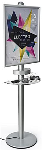 Silver Mobile Device Charging Kiosk