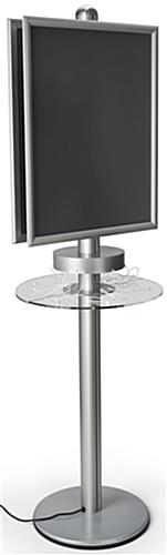"Phone Charger Kiosk, Holds (2) 22"" x 28"" Posters"