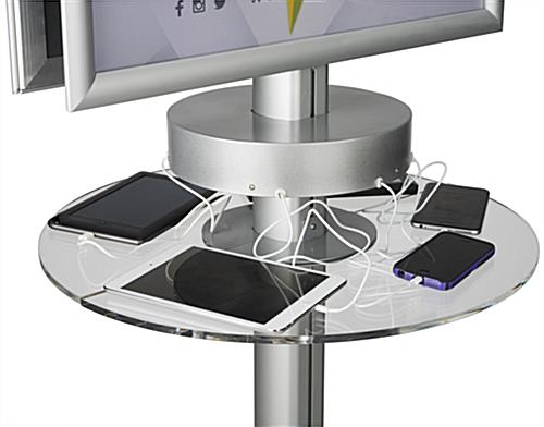 Phone Charger Kiosk with Acrylic Shelf