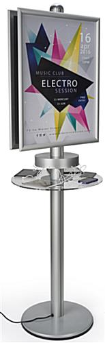 Silver Phone Charger Kiosk