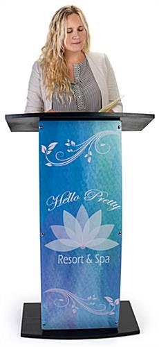Black custom lectern with your own graphics