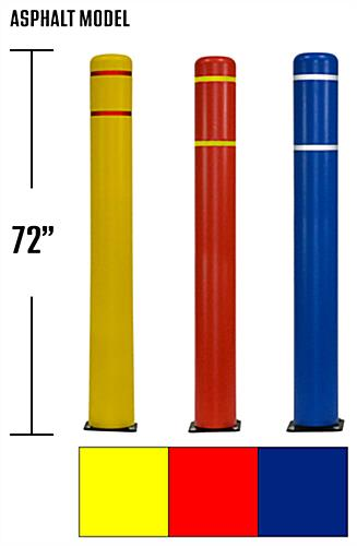 Flexible parking bollard with three color choices