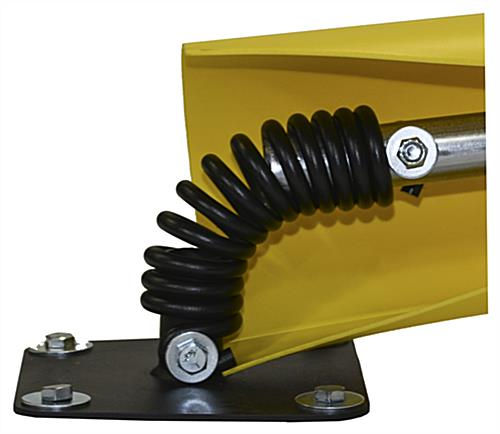 Spring base parking post with patented carbon steel torsion coil
