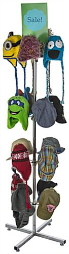 Spinning Hat Rack with Sign Holder