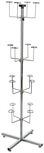Spinning Hat Rack - Silver