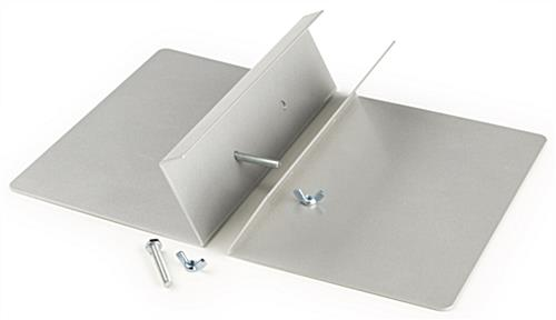 Silver Double Sided Sign Holder May be Used Outside