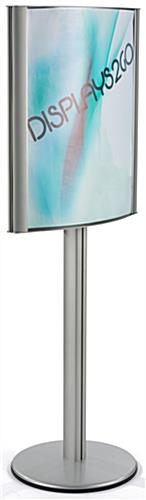 Double Sided Curved 22 x 28 Poster Stand