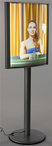 22 x 28 Curved Lightbox Stand with LED Bulbs