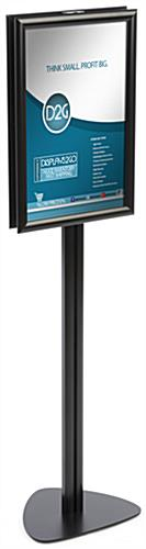 "11"" x 17"" Contemporary Sign Stand, Aluminum"