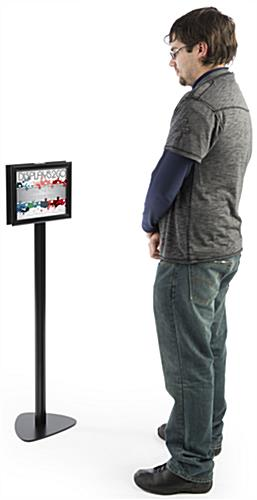 "8.5"" x 11"" Modern Sign Stand, 11.75"" Overall Width"