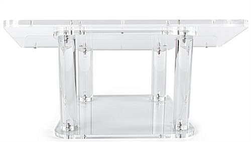Acrylic tabletop podium with multiple display options