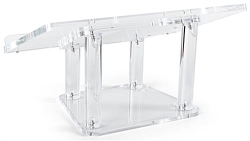 Acrylic tabletop podium with optional floor stand