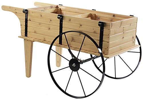 Wooden Flower Cart w/out Shelf