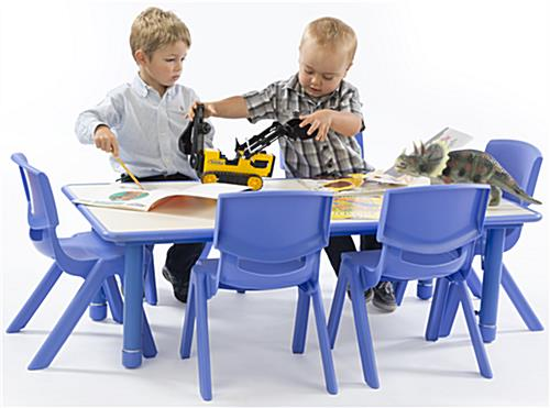 Blue Height Adjustable Kids Table, Chairs Sold Separately