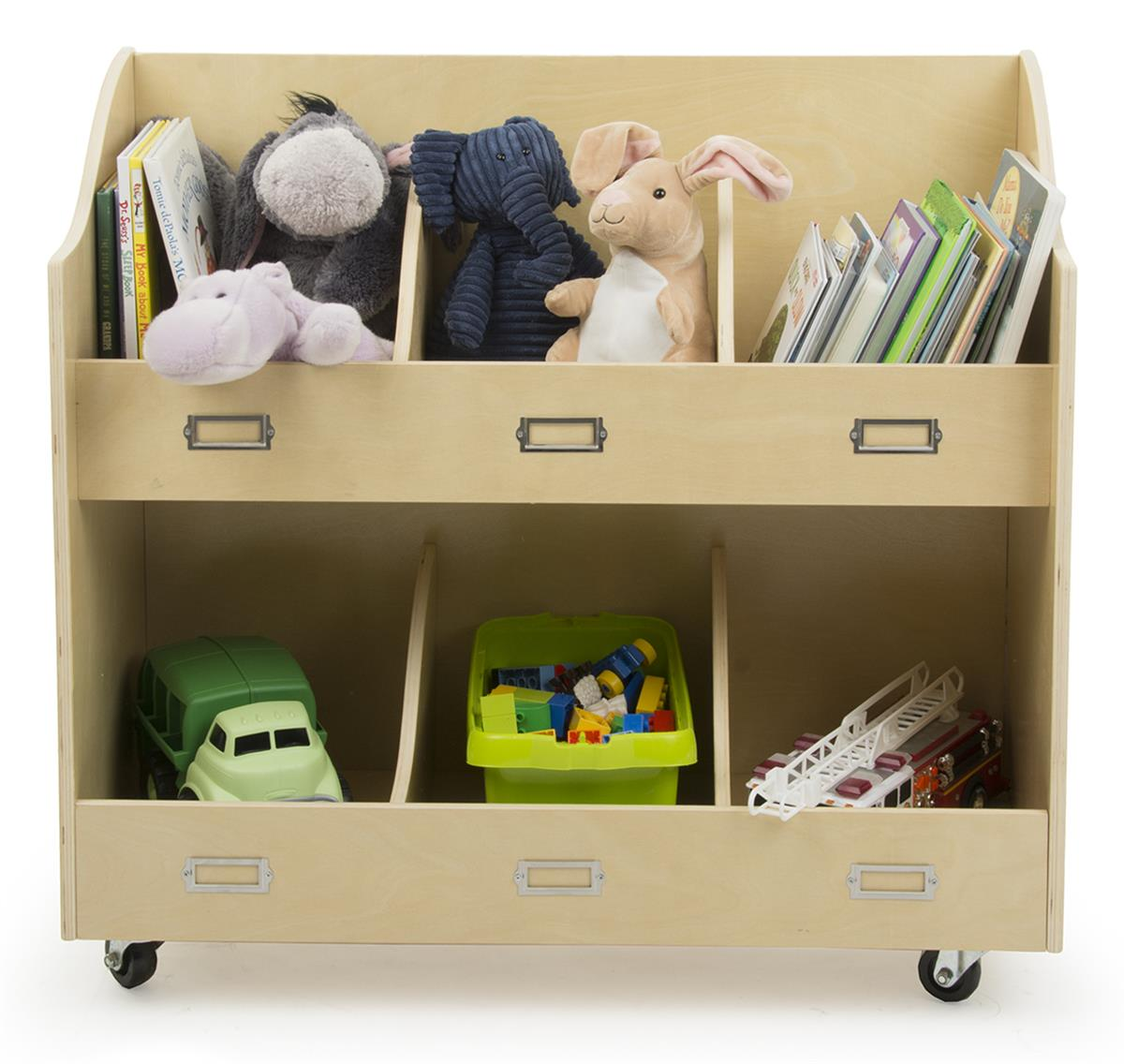 Rolling Toy Carts Wooden Storage With Wheels