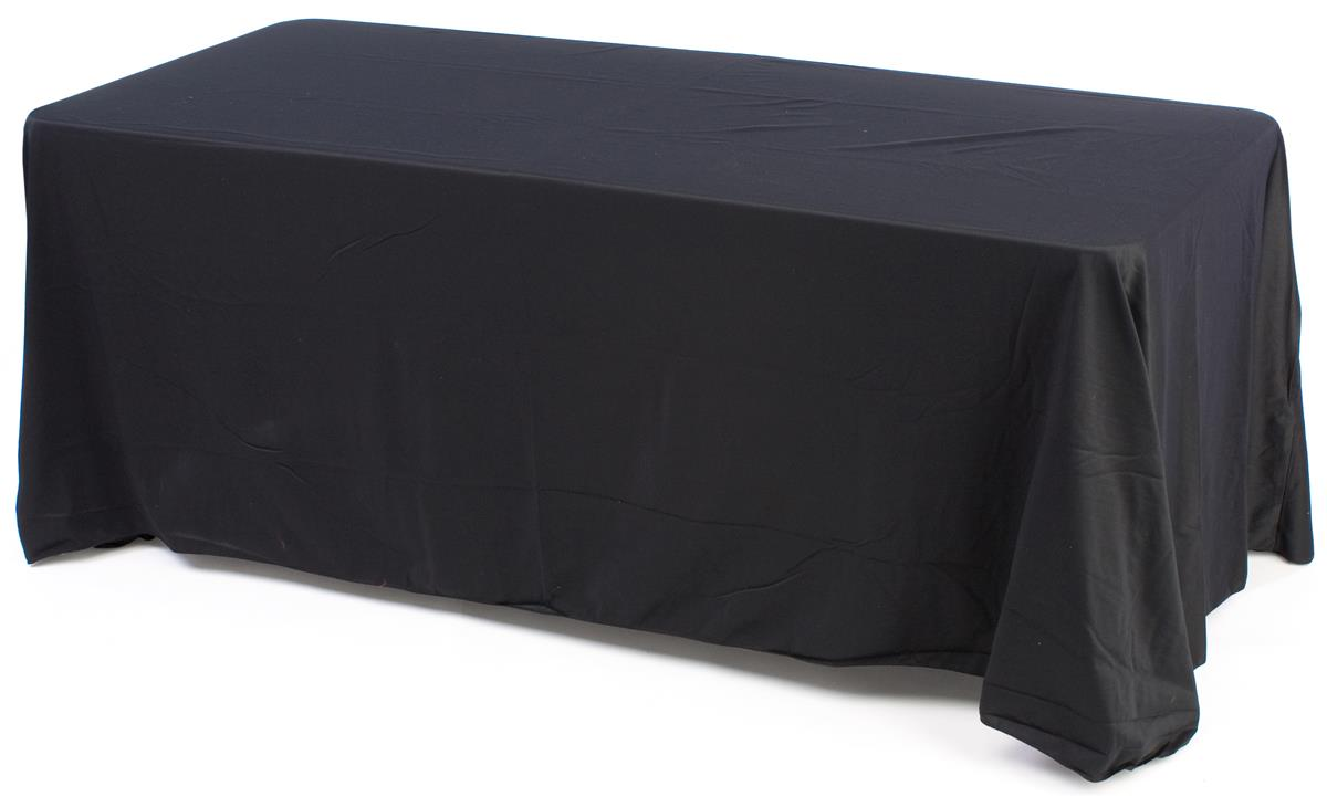 Tradeshow table 6 39 black tablecloth table for Table 6 table