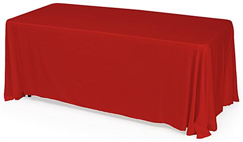red table drapes 6 foot cover. Black Bedroom Furniture Sets. Home Design Ideas