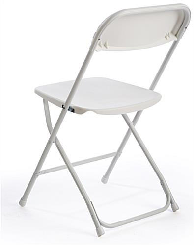 White Plastic Folding Chair with Steel Legs