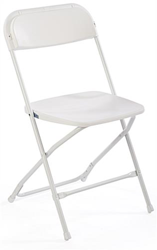 White Plastic Folding Chair, Slanted Back Rest