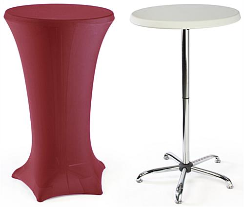 High Top Cocktail Tables Red Cover