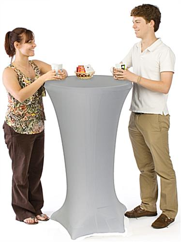 Contemporary Tall Cocktail Tables with Silver Covers