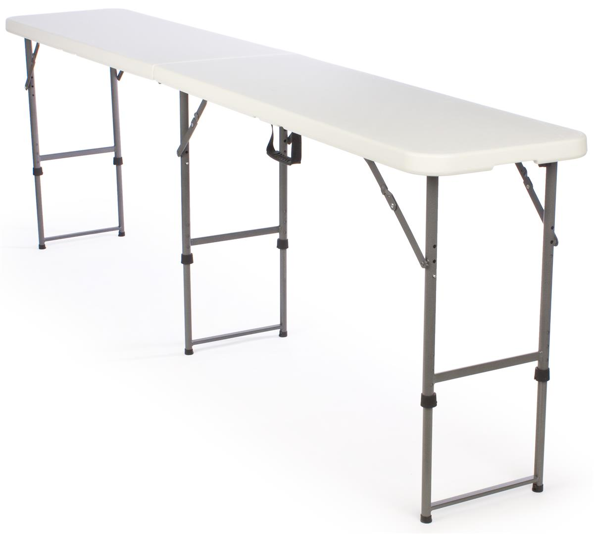 folding tables adjustable height plastic top. Black Bedroom Furniture Sets. Home Design Ideas