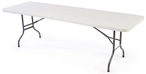 Folding Table Is An 8ft W Collapsible Legs