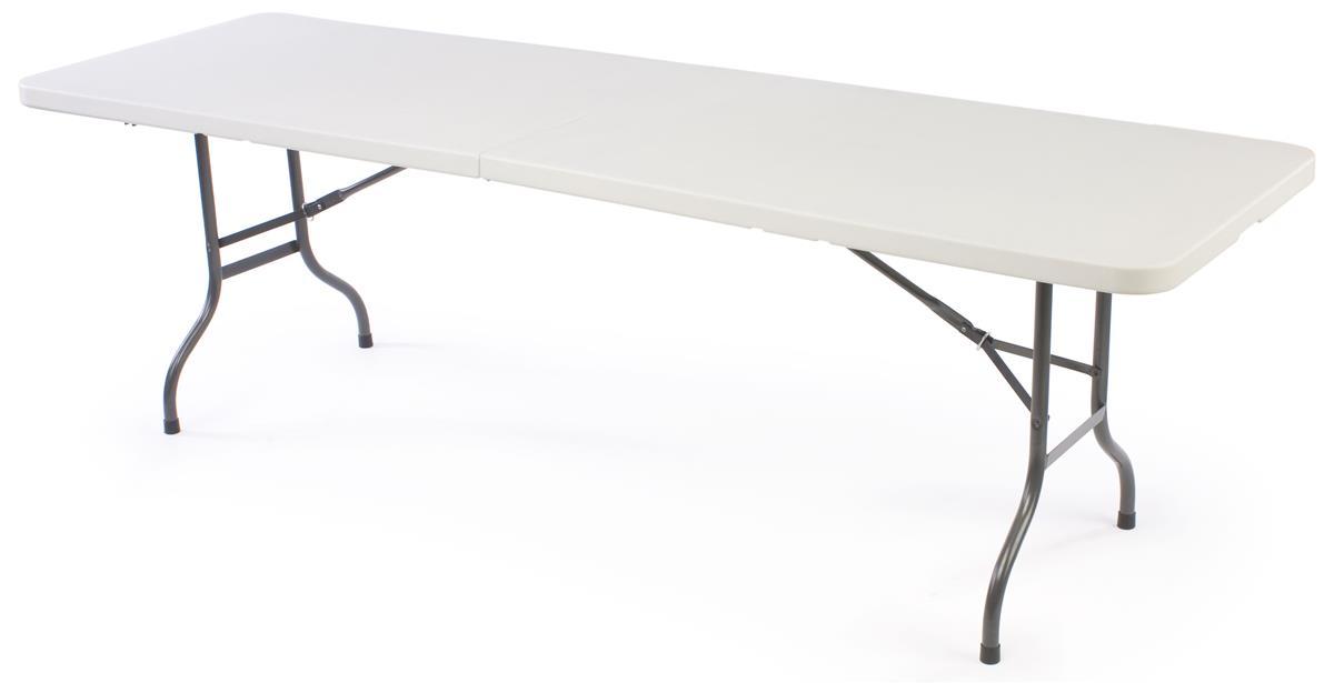 Displays2go 8' Folding Table - White